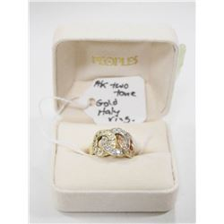 14 KT TWO TONE GOLD ITALIAN RING