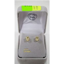10 KT GOLD EARRINGS WITH CITRINES