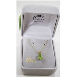 10 KT GOLD NECKLACE WITH PERIDOT STONE