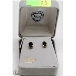 10 KT GOLD EARRINGS WITH SAPPHIRES