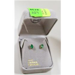 10 KT GOLD EARRINGS WITH EMERALDS