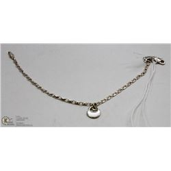 GUCCI LINK 925 SILVER BRACELET WITH CHARM