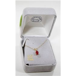 10 KT GOLD NECKLACE WITH RUBY