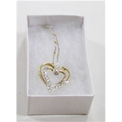 14 KT GOLD HEART PENDANT WITH CHAIN