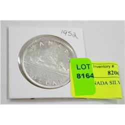 1952 CANADA SILVER DOLLAR COIN