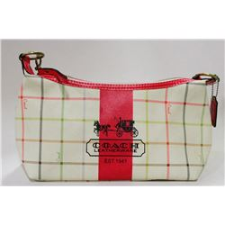 AUTHENTIC COACH PURSE WITH PINK TRIM