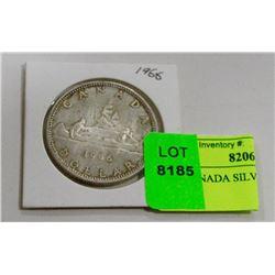 1966 CANADA SILVER DOLLAR COIN