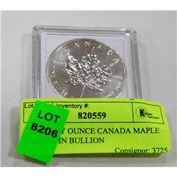 ONE TROY OUNCE CANADA MAPLE LEAF COIN BULLION