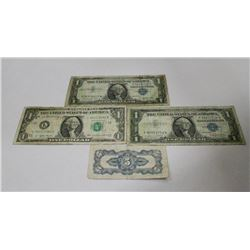 2 1957 US SILVER ONE DOLLAR PROMISSORY NOTES AND