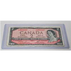 1954 CANADIAN $2.00 BILL