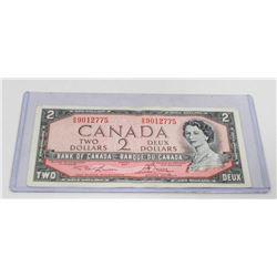 1954 CANADA TWO DOLLAR BILL