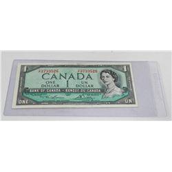 1954 CANADIAN $1.00 BILL