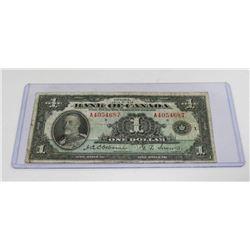 1935 CANADIAN $1.00 BILL