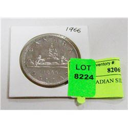 1966 CANADIAN SILVER DOLLAR COIN