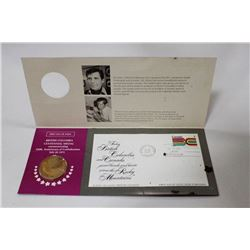 1971 BC CENTENNIAL MEDAL AND FIRST DAY STAMP
