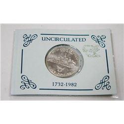 .40 TROY OZ 1982 UNCIRCULATED USD HALF DOLLAR