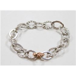 YOUNIQUE STERLING SILVER AND ROSE GOLD BRACELET