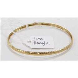 10 KT YELLOW GOLD BANGLE BRACELET