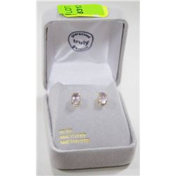 10 KT GOLD EARRINGS WITH AMETHYSTS