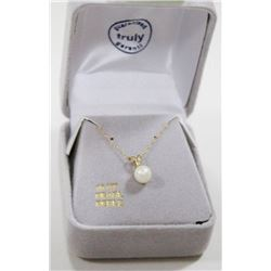 10 KT GOLD NECKLACE WITH PEARL