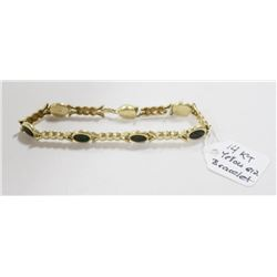 14 KT GOLD WITH INLAY BRACELET