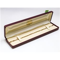 "10 KT TRI GOLD BRAIDED HERRINGBONE NECKLACE 7.5"""