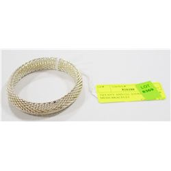 TIFFANY AND CO. STERLING SILVER MESH BRACELET