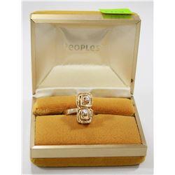 14 KT GOLD RING WITH DIAMONDS DESIGNER