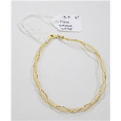 18 KT GOLD FINE WEAVE WRAP BRACELET