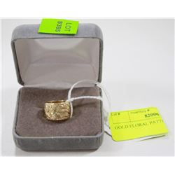 GOLD FLORAL PATTERN RING SIZE 4.5