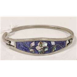 MEXICO SILVER BRACELET WITH INLAY