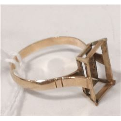18 KT GOLD RING MOUNT SIZE 6.75