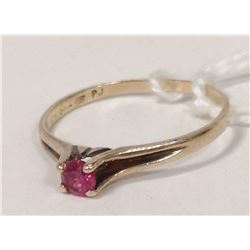10K RUBY AND DIAMOND RING SIZE 7