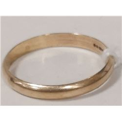 9 KT GOLD BAND SIZE 8.75
