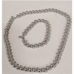 BALL NECKLACE WITH BRACELET