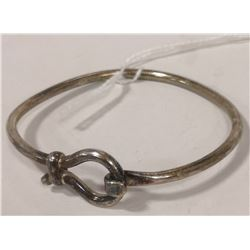 STERLING SILVER BUCKLE BANGLE 16G