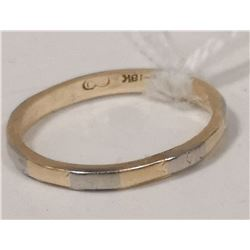 14KT 18KT TWO TONE RING SIZE 5.25