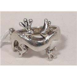 STERLING SILVER GHEKO RING SIZE 6.25