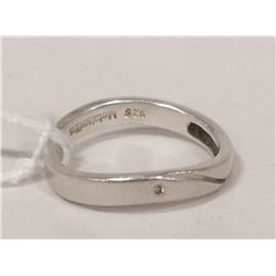 STERLING SILVER AND CUBIC BAND