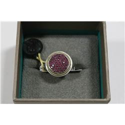 EFFY 18 KT / SILVER RING WITH 1.16 TCW RUBY