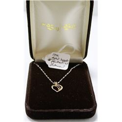 10K GOLD AND DIAMOND HEART PENDANT ON CHAIN