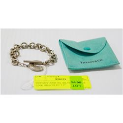 """TIFFANY AND CO. SILVER TOGGLE LINK BRACELET 7.5"""""""