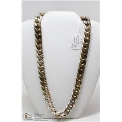 """STERLING SILVER LINK NECKLACE 21"""" 112 G"""