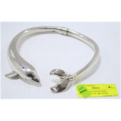 STERLING SILVER DOLPHIN NECKLACE CUFF 168 GRAMS