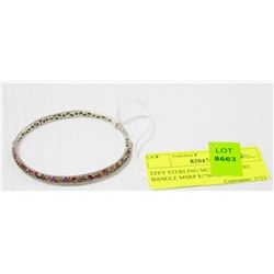 EFFY STERLING MULTI SAPPHIRE BANGLE MSRP $1700.00