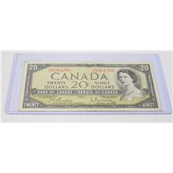 1954 CANADIAN $20.00 BILL