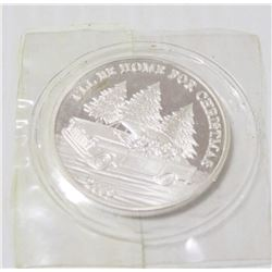 ONE TROY OUNCE SILVER CHRISTMAS BULLION ROUND