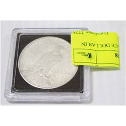 1925 US SILVER PEACE DOLLAR IN COIN HOLDER