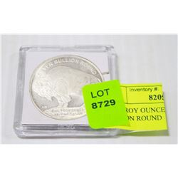 ONE TROY OUNCE BUFFALO SILVER BULLION ROUND