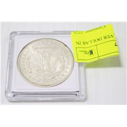 1921 US MORGAN SILVER DOLLAR IN COIN HOLDER